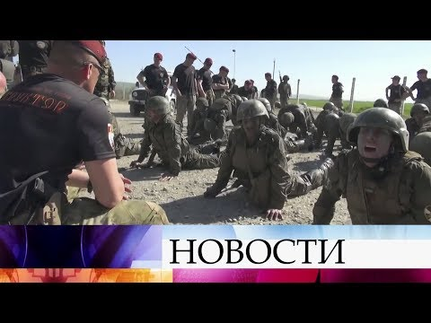 На полигоне в Чечне спецназовцы Росгвардии сразились за право носить краповый берет.