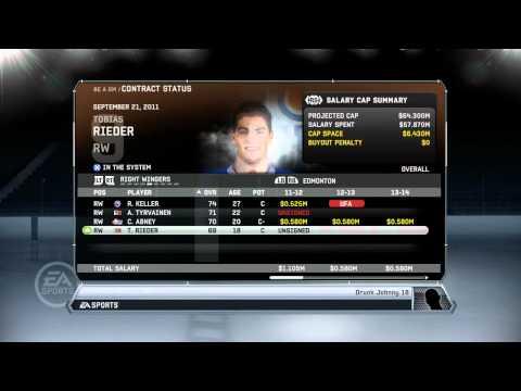 NHL 12: GM Mode Commentary - Edmonton ep. 1