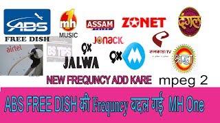 ABS FREE DISH ke channel update ke new frequncy