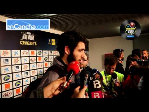 Álex Abrines - Post final Copa del Rey 2015 - 22/02/2015