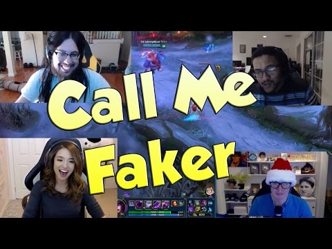 League of Legends Funny Stream Moments #17 - CALL ME FAKER!