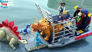 Playmobil The Explorers Stegosaurus Triceratops Velociraptors Fun Dinosaurs Toys For Kids