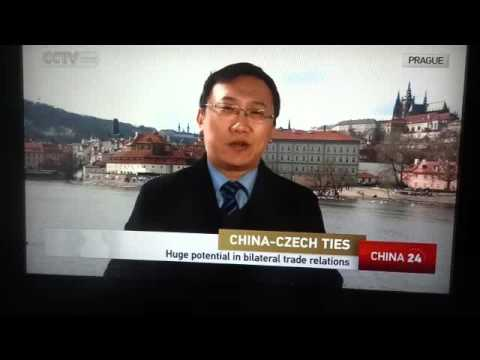 Chinese TV news about Czech visit of CHinese Presinent Xi