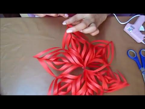MANUALIDADES:Estrella Colgante 3D