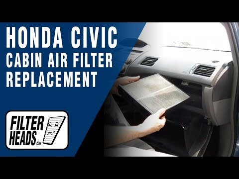 Cabin air filter replacement- Honda Civic - YouTube