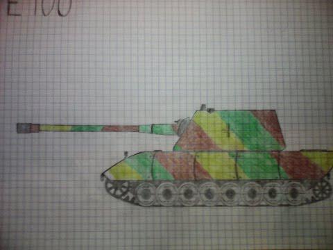 Видео как нарисовать танк E100