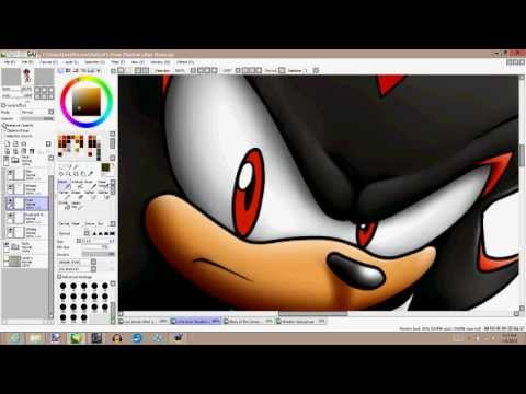 How to Draw Shadow the Hedgehog - Part 2