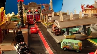 Pixar Cars Video , cut-scene, EARTHQUAKE in Radiator Springs, starring Lightning McQueen