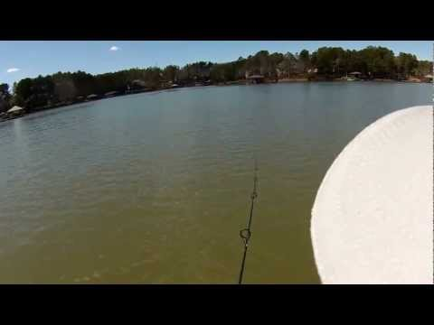 03-12-13 Fishing Lake Norman - Working the Rocks Video using Contour+2 Camera