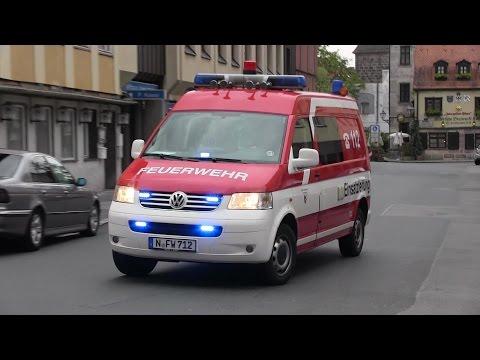 HLF + DLK FW 3 + ELW D-Dienst FW 2 BF + ELRD Nürnberg [Brandeinsatz]