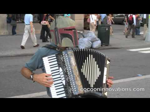 Zelda on the accordion - Boba Fett Video