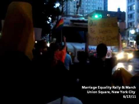 Marriage Equality Rally, NYC, 6/17/11 - Part 2