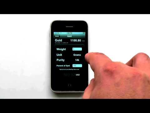 Precious Metal Calculator 1.0 For Iphone Gold Platium Silver Palladium From Kitco