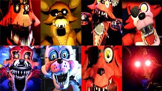 45 FOXY JUMPSCARES! | FNAF Fan Games | IULITM