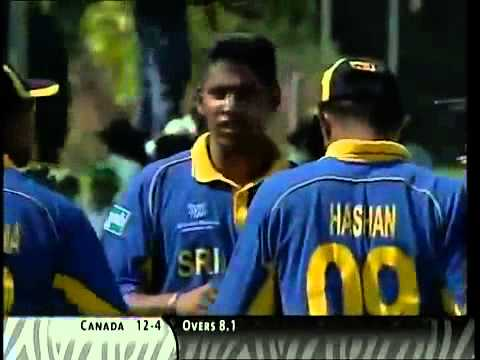 cricket tube Canada 36 All out lowest ever odi score vs Sri Lanka World Cup