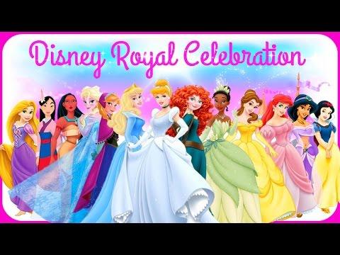 ♡ Disney Princess Elsa Anna Cinderella Ariel Belle Rapunzel & Jasmine Royal Celebration