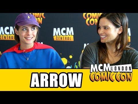 Arrow Willa Holland & Katrina Law Interview