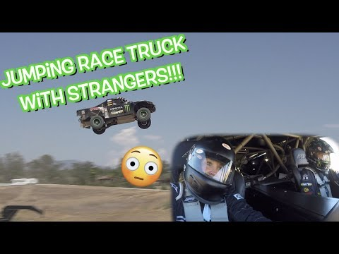 Giving rides in CRAZY RACE TRUCK!!! HUGE JUMPS