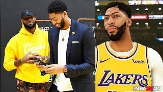 LeBron James Uses NBA 2K To Practice With Anthony Davis & DeMarcus Cousins After Joining Lakers!