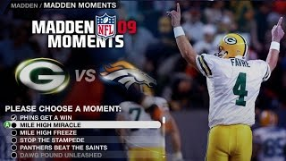 LETS PLAY MADDEN 09 MADDEN MOMENTS (Part1)