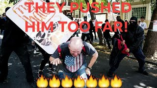 Antifa LIBTARD tackles Trump supporter, you can guess what happened