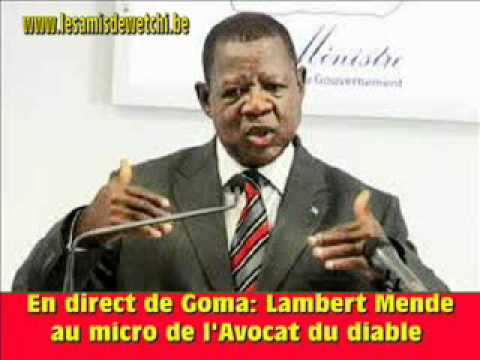 Lambert Mende confirme que les rwandais sont au Congo
