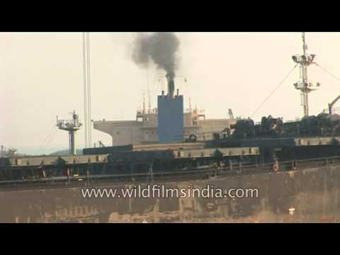 Cargo traffic at Paradeep Port in Orissa