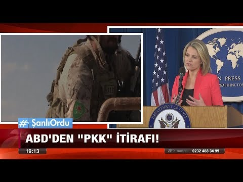 """Abd'den """"pkk"""" itirafı! - 26 Ocak 2018"""