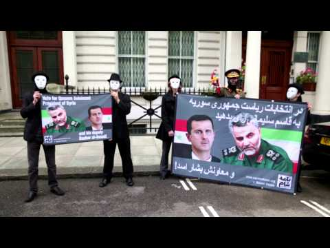 Video of Qassem Soleimani's Syria 'election rally' at Iranian embassy in London