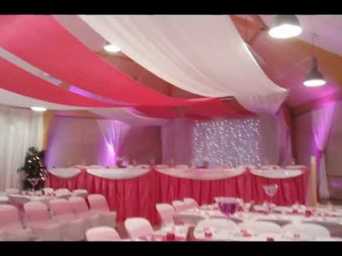 mariage theme fushia decorations salles mariage salles de fetes youtube. Black Bedroom Furniture Sets. Home Design Ideas