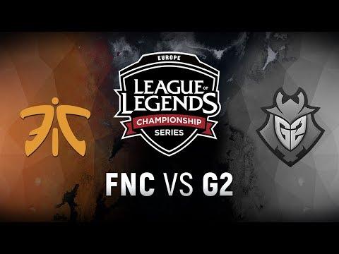 FNC vs. G2 - Week 3 Day 1 | EU LCS Summer Split | Fnatic vs. G2 Esports (2018)