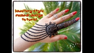 How to apply henna designs || Easy latest Best jewellery mehndi designs for hands tutorial