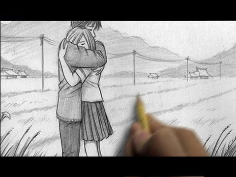 Couples Hugging Images Drawing How to Draw People Hugging
