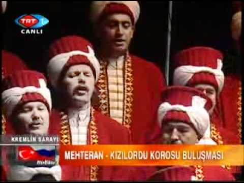 The Ottoman Janissary Band (Mehteran) & The Red Army Choir: Katyusha & the Waltz of  Rose bush klip izle