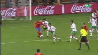 Gol de David Villa-España vs Portugal