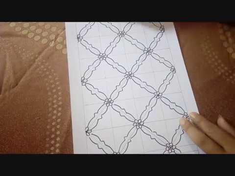 belajar menggambar desain batik jambi dengan mudah dan cepat
