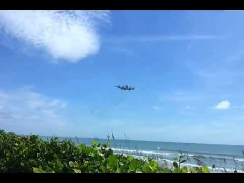 Lockheed P-3 Orion coming in for a landing at Patrick Air Force Base