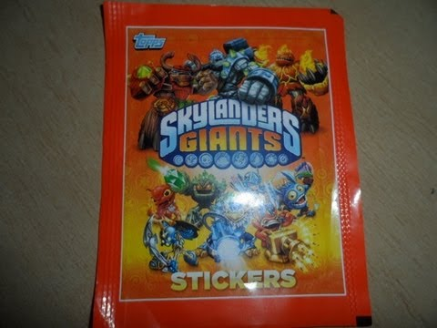 FREE SWAP HERE LATEST OFFICIAL SKYLANDERS GIANTS STICKERS BY TOPPS / ACTIVISION MAY 2013
