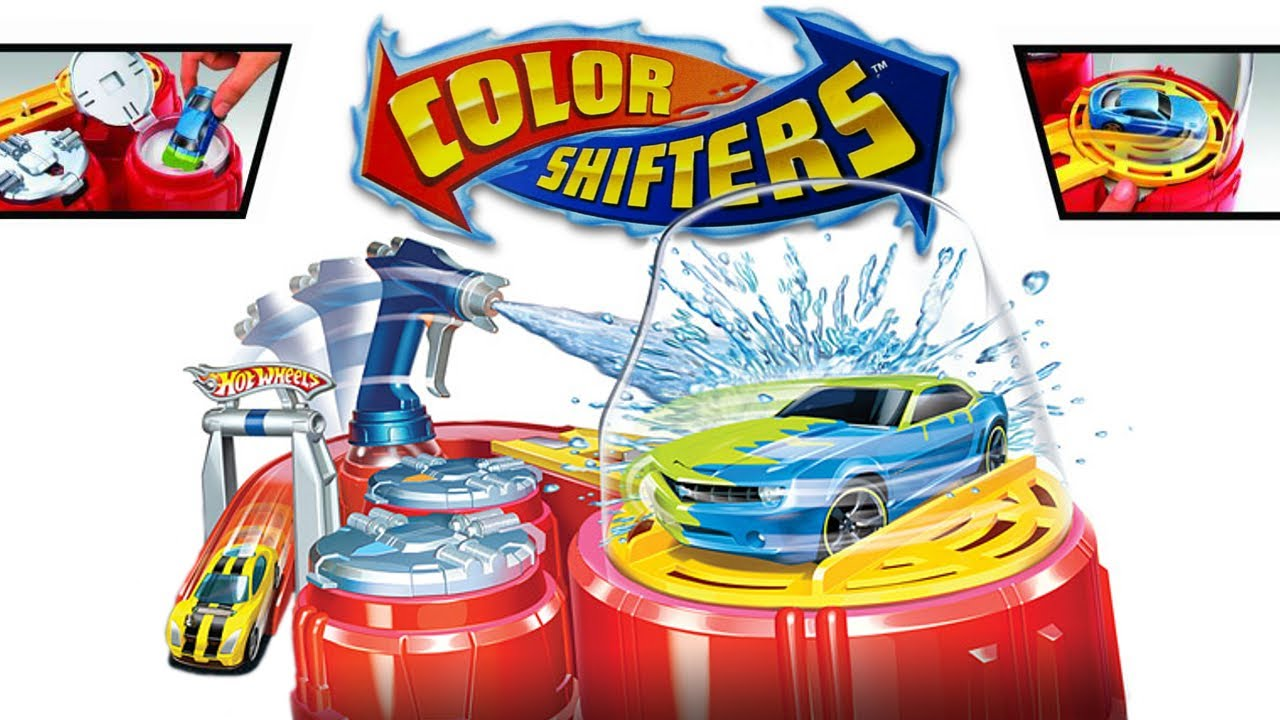 hot wheels color shifters colour shot playset youtube