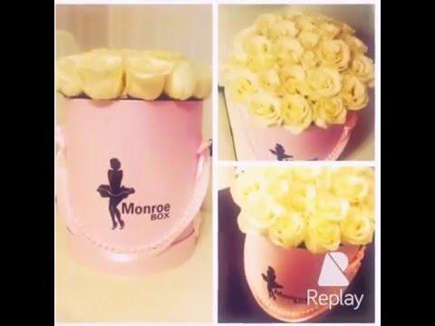 Новинка 2016 цветы в шляпных коробках Monroe Box