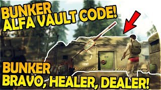 BUNKER ALFA VAULT PASSWORD CODE, HEALER + DEALER, BUNKER BRAVO - Last Day on Earth Survival Gameplay