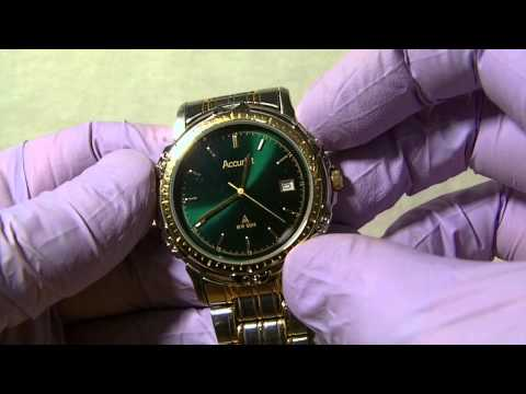 Accurist MB458 green dial dress watch