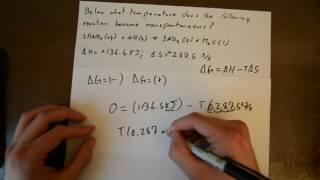 Chemistry Thermodynamic - Spontaneous Reaction