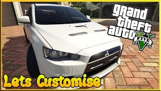 GTA 5  PC Mods - Lets Customise the Mitsubishi Evo X (Showcase)