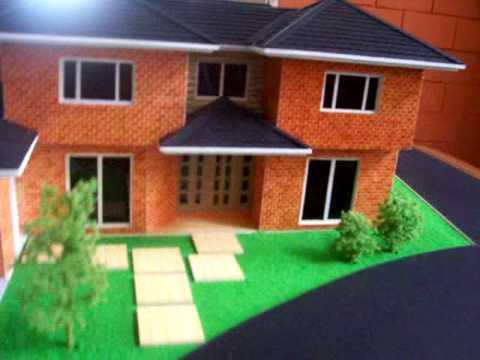 Maqueta casa 1 50 guatemala escale house model - Como hacer una maqueta de una casa ...