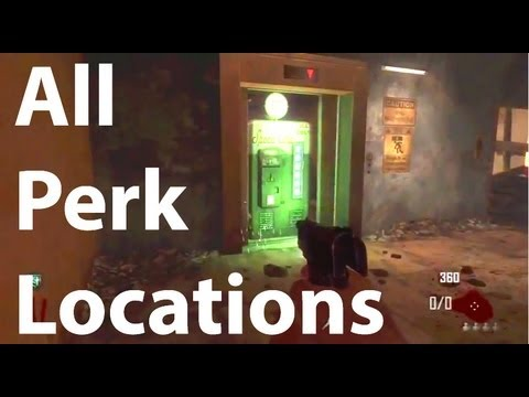 All Perk Locations On Die Rise (Black Ops 2 Zombies)