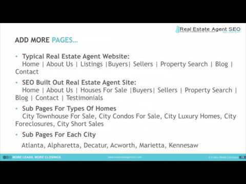 Real Estate Agent SEO