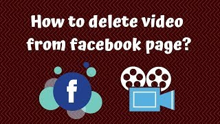 How to delete video from facebook page|RD Tech Channel|Bangla Tutorial