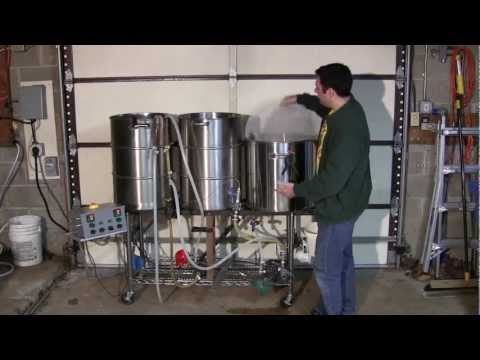 Tour of 25-gallon electric HERMS brewing system