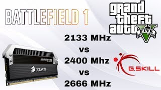 Does RAM Speed affect Gaming | 2133 MHz vs 2400 MHz vs 2666 MHz | 32 GB DDR4 | GTX 970 G1
